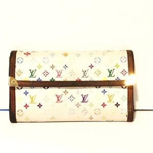 Authentic Louis Vuitton colorful long wallet